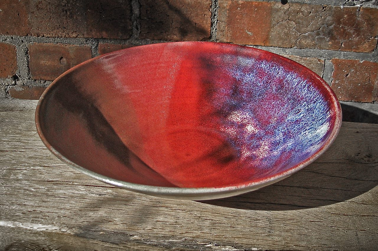 hand-thrown red stoneware bowl by peter downey