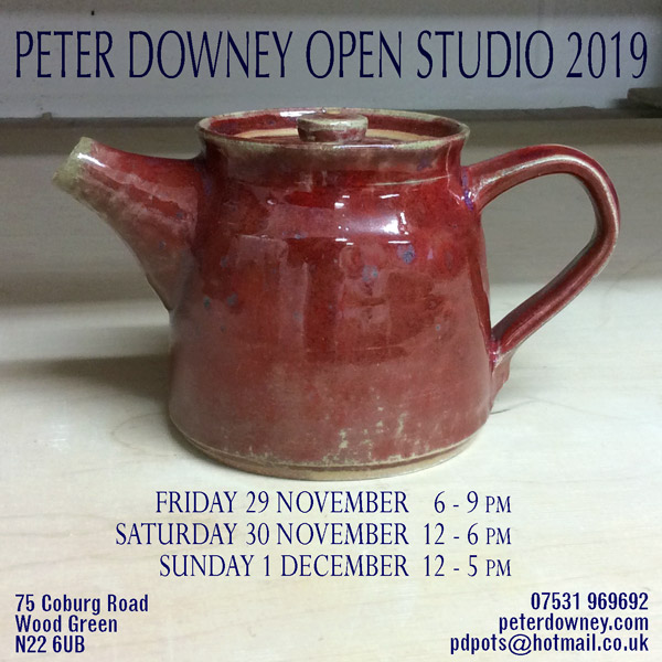 Peter Downey Pottery - Open Studio 2019