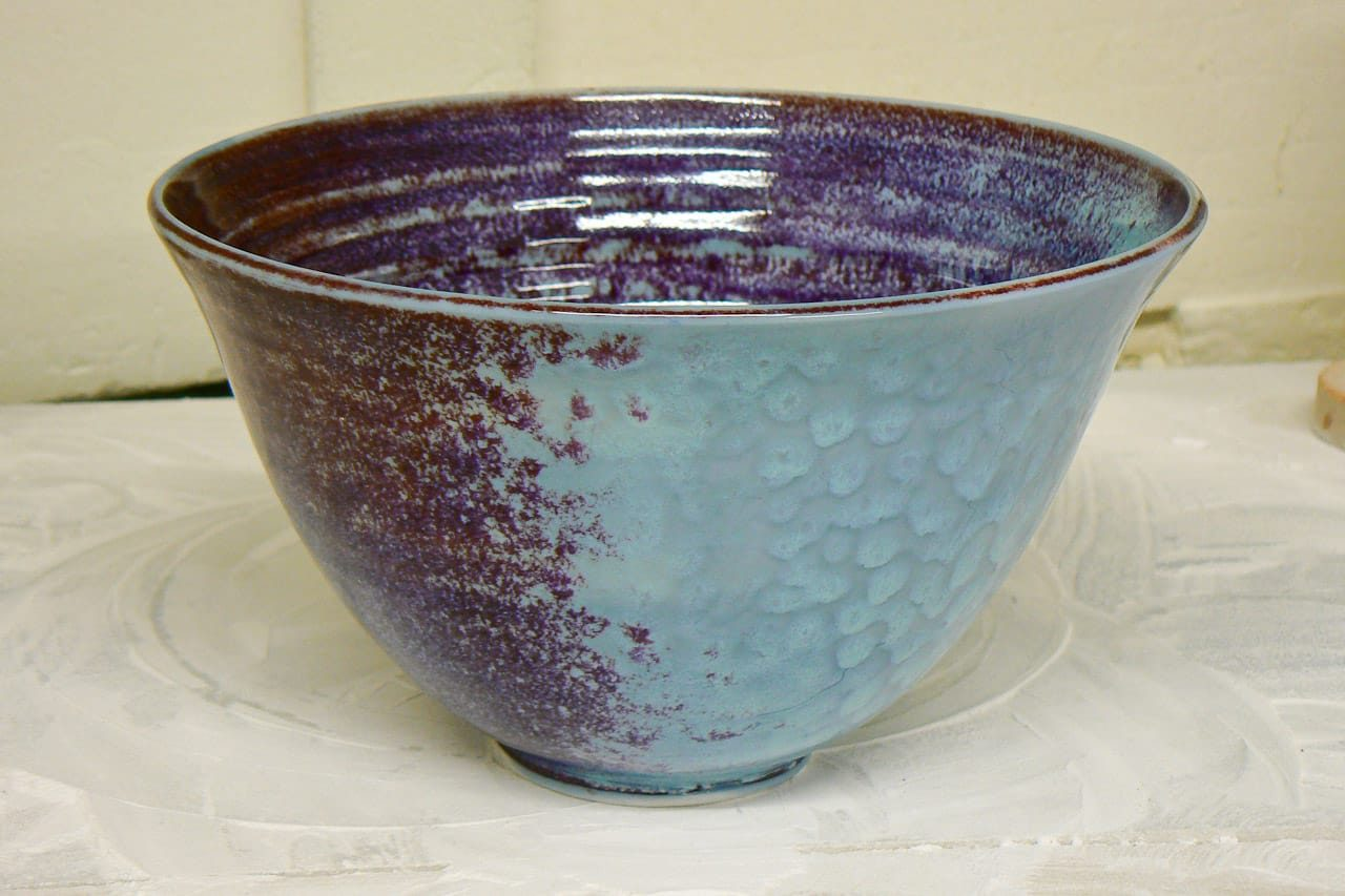 porcelain bowl with reduction glaze by peter downey