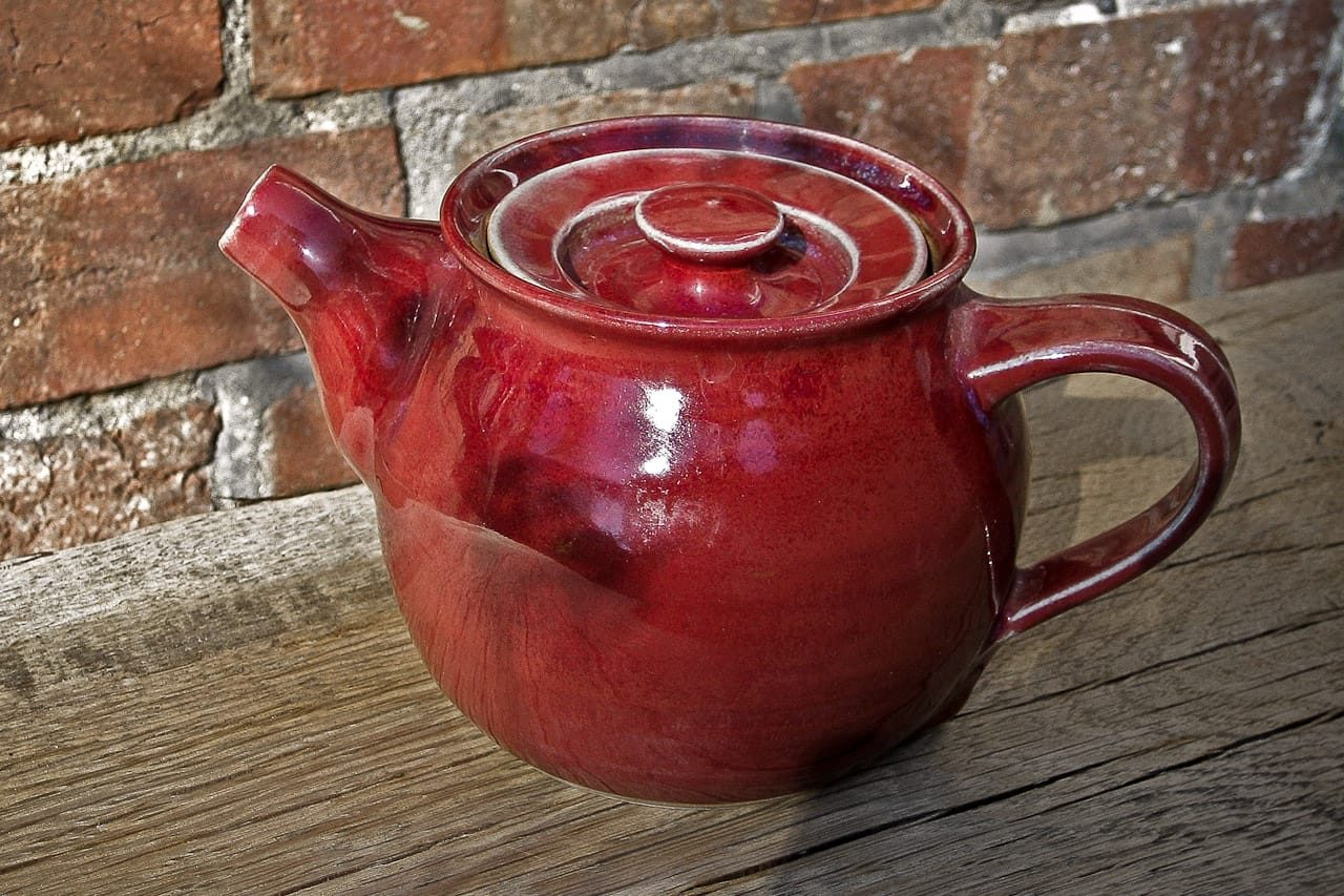 hand thrown red stoneware teapot